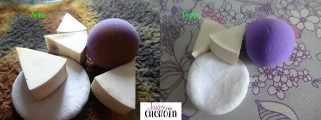 vanish - sabão - líquido- água- como - lavar- esponjinhas- de- maquiagem